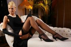 Rhian Sugden Big Boobs Elegant Black Dress 02