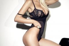 Rhian Sugden Big Tits Black Lingerie 01