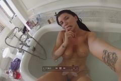 Romi Rain Big Boob Bathtime Selfies 015