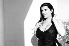 Romi Rain Big Boobs in Black and White 002