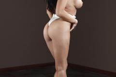 Romi Rain Big Boobs in Seethrough White Shirt 012
