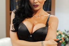 Romi Rain Big Boobs in Sexy Black Lingerie and Stockings 05