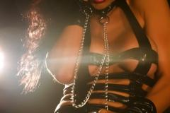 Romi Rain Big Tits Leather Chains and Fishnets 011
