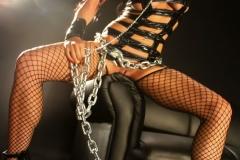 Romi Rain Big Tits Leather Chains and Fishnets 012