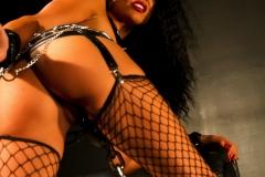 Romi Rain Big Tits Leather Chains and Fishnets 014