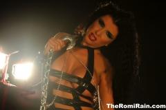 Romi Rain Big Tits Leather Chains and Fishnets 032
