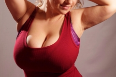 Samanta Lily Huge Tits in a Tight Red Dress 06