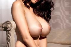 Sammy Braddy Huge Boobs Naked and Black Stockings 008