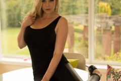 Sapphire Big Boobs Tight Black Stretchy Trousers 01