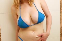 Sapphire Big Tit Blonde Babe in blue Bikini 001