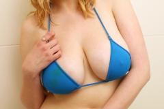 Sapphire Big Tit Blonde Babe in blue Bikini 002