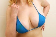 Sapphire Big Tit Blonde Babe in blue Bikini 003