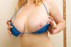 Sapphire Big Tit Blonde Babe in blue Bikini 004
