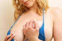 Sapphire Big Tit Blonde Babe in blue Bikini 006