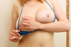 Sapphire Big Tit Blonde Babe in blue Bikini 010