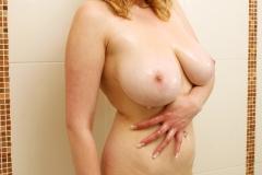 Sapphire Big Tit Blonde Babe in blue Bikini 047