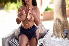Sarah McDonald Big Boobs in Sexy Blue Lingerie 008
