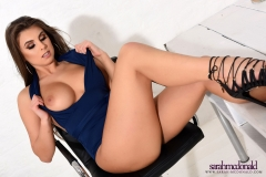 Sarah McDonald Big Tits Blue One Piece 09