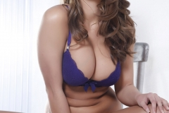 Sarah McDonald Big Tits Purple Bra and Panties 01