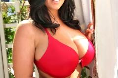 Sarah Nicola Randall Huge Boobs in Red Bikini 009