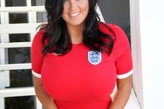 Sarah Nicola Randall Huge Breasts in Tight Football Kit 010