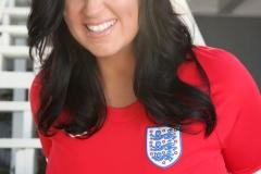 Sarah Nicola Randall Huge Breasts in Tight Football Kit 011