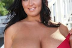 Sarah Nicola Randall Huge Breasts in Tight Football Kit 025