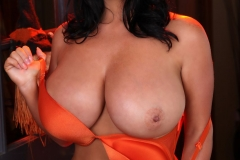 Sarah Nicola Randall Huge Tits Orange Bra and Panties 009
