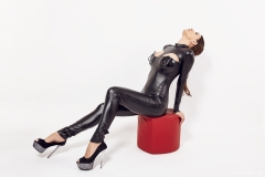 Sasha Red Big Boobs in Leather and Latex 003