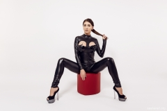 Sasha Red Big Boobs in Leather and Latex 005