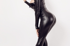 Sasha Red Big Boobs in Leather and Latex 007