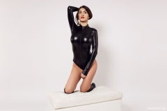 Sasha Red Big Boobs in Leather and Latex 012