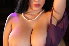Satinee Capona Big Boobs Purple Bra 003