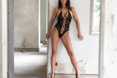 Savannah Big Boobs Black Swimsuit and High Heels 001