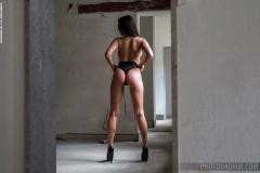 Savannah Big Boobs Black Swimsuit and High Heels 003