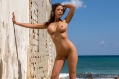 Savannah Big Boobs in Shiny Blue Bikini for Photodromm 009