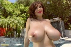 September Carrino Big Tits by the Pool 02