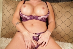 Shay Fox Huge Boobs Purple Bra and Panties 013