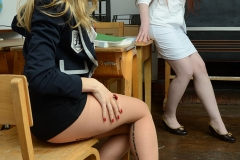 Sophia Smith Shows Boobs to Teacher as She strips out of school uniform 02