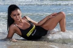 Sophy Davis Big Boobs Tights then Beach 015