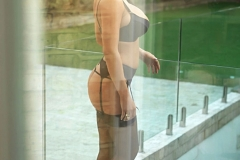 Stacey Poole Big Boobs Classy Black Stockings and Suspenders 01