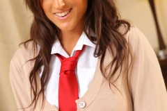 Stacey Poole Big Tits with Plaid Miniskirt 05