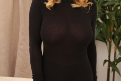 Stacey Poole Boobs stretching black jumper 01