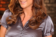Stacey Poole Hige TIs in Tight Satin Top 01