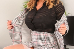 Stacey Poole Huge Boob Secretary in Tight Skirt and Top 006