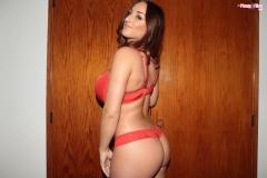 Stacey Poole Huge Boobs in Orange Bra 003