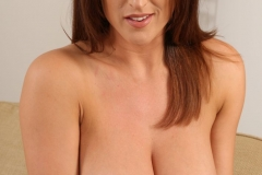 Stacey Poole Huge Boobs in White Top and Tiny Skirt 011