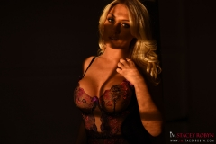 Stacey Robyn Big Tits Black Basque and Stockings 02