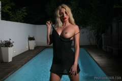 Stevie Big Boobs in a Little Black Dress for Photodromm 002