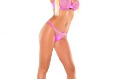 Summer Brielle Big Boobs in Pink Bra with Heels 003